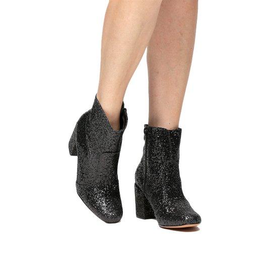 Bota Shoestock Glitter - Preto
