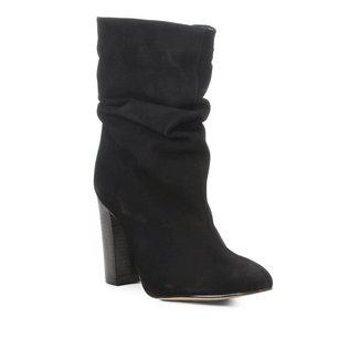 Bota Slouch Shoestock Salto Grosso Feminina