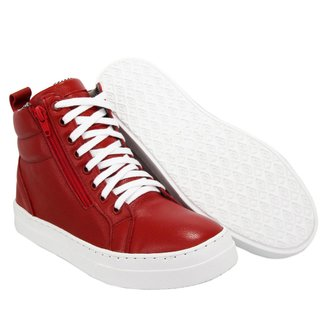 Bota Sneaker em Couro Treino Fitness Selten Feminina