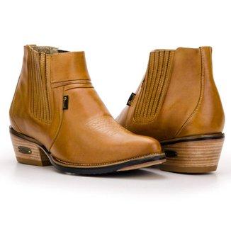 Bota Texana Country  Capelli Boots Cano Curto com Fechamento em Elástico Masculina