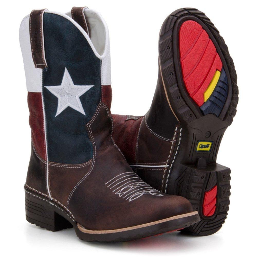 Bota Texana Country Capelli Boots em Couro Bandeira Texas Bico Redondo  Masculina - Compre Agora  2c1bca6c6e8