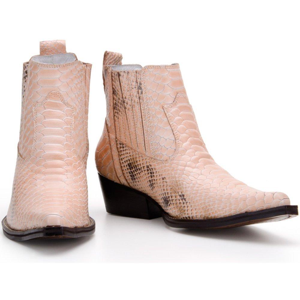 fd9f128f5 Bota Texana Country Capelli Boots em Couro com Bico Fino e Cano Curto  Masculina - Compre Agora