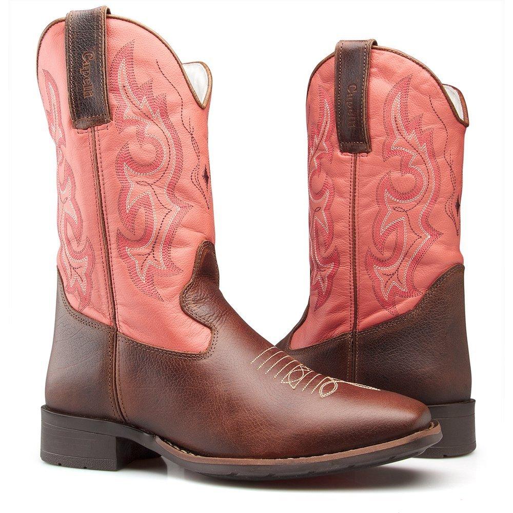 9cc13118f Bota Texana Country Capelli Boots em Couro Solado em Borracha Feminina |  Zattini