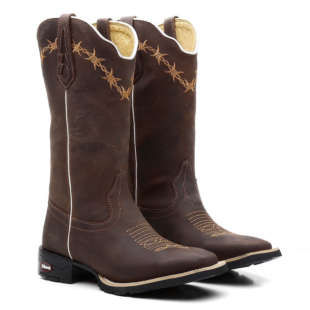 bf48657ec9 Bota texana feminina cafe arame marrom compre agora zattini jpg 1000x1000  Botas texanas feminina