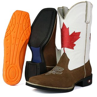 Bota Texana SapatoFran Canadá Bico Quadrado Masculina