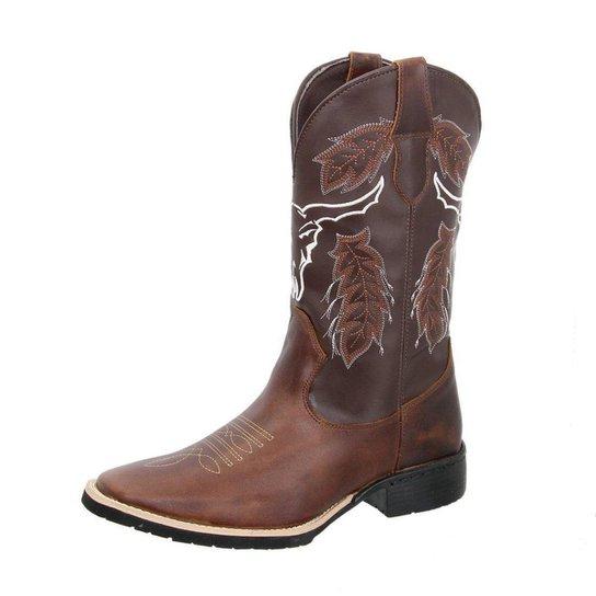 Bota Texana Texas Gold Western Bico Quadrado Masculina - Marrom