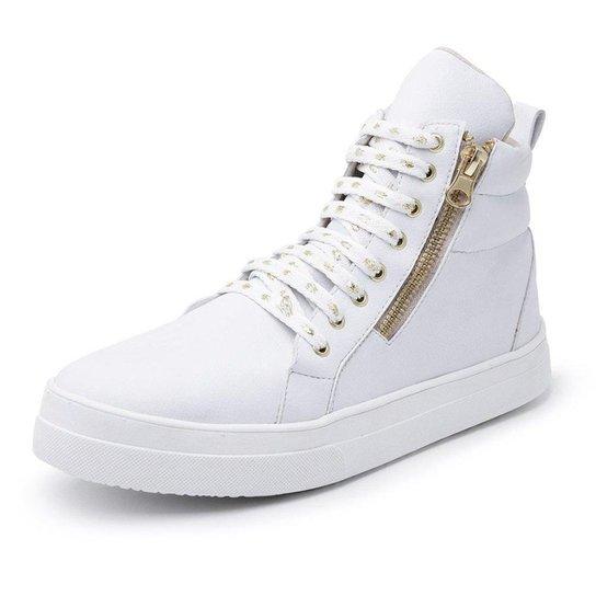 Bota Top Franca Shoes Cano Médio Feminina - Branco