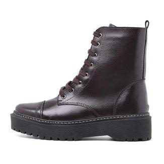 Bota Top Franca Shoes Coturno Feminina