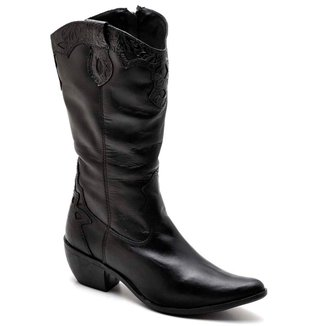Bota Top Franca Shoes Country Bico Fino  Feminina