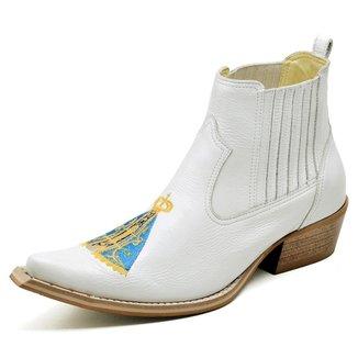 Bota  Top Franca Shoes Country Bico Fino Verniz Masculino