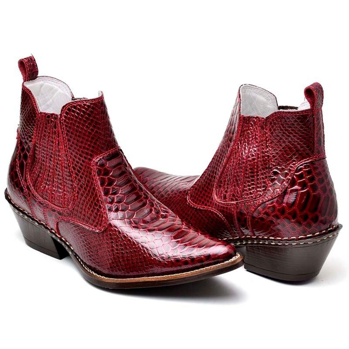 bafa959c93394 Bota Top Franca Shoes Country Masculino - Vermelho - Compre Agora ...