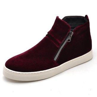 Bota Top Franca Shoes Hiate Veludo Feminino