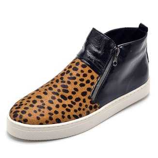 Bota Top Franca Shoes Hiate Verniz Feminina