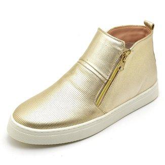 Bota Top Franca Shoes Hiate Word Feminino