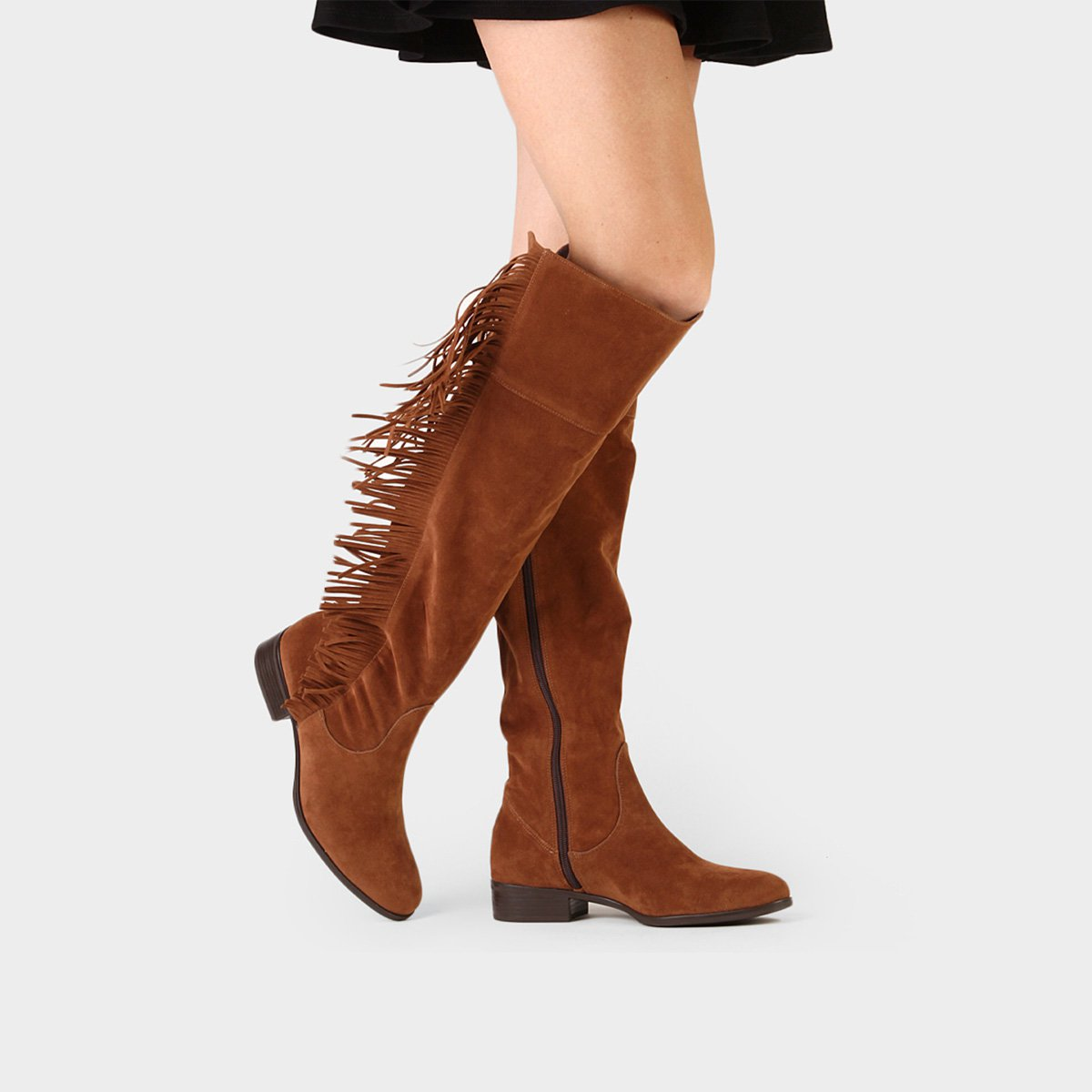 Knee Caramelo Walkabout Walkabout Caramelo the Franjas Franjas Bota Knee Bota Walkabout Over Over Over the Bota O8qxp8H