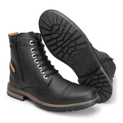 Bota World Boot com Zíper Lateral Masculina