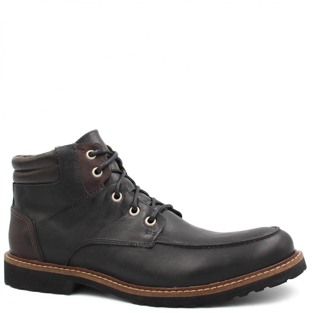 Bota Masculina Preto Couro Coturno Bota Coturno em Shoes Shoes Zariff Zariff RZw4qHPR