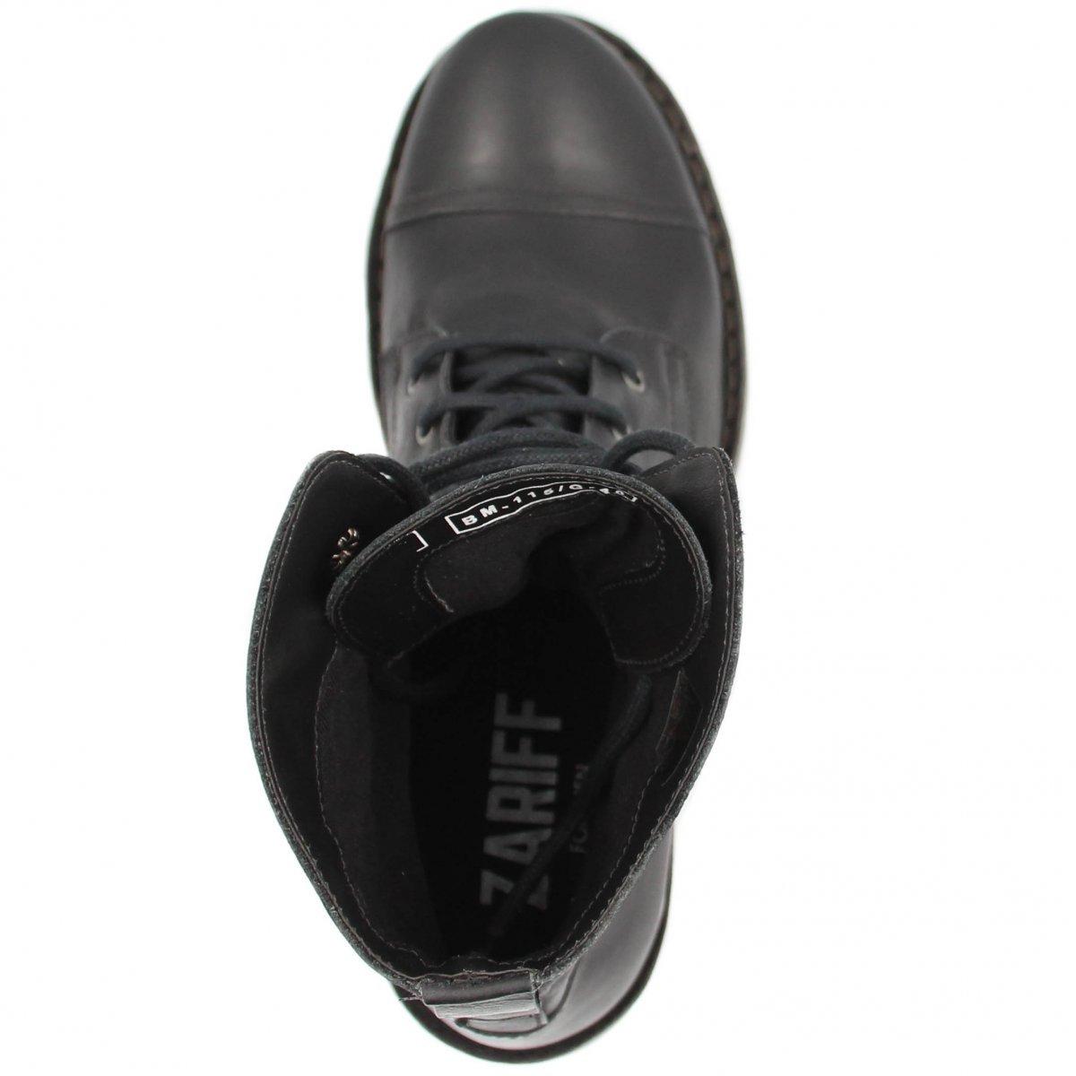 Couro Bota Masculina Preto em Shoes Bota Zariff Coturno Zariff RzRwpqY