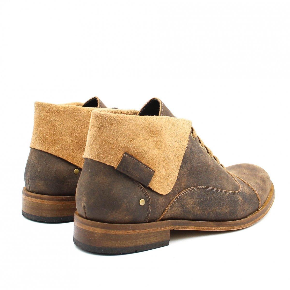Coturno em Bota Bota Zariff Zariff Marrom Shoes Couro Masculina FwTSq1vz