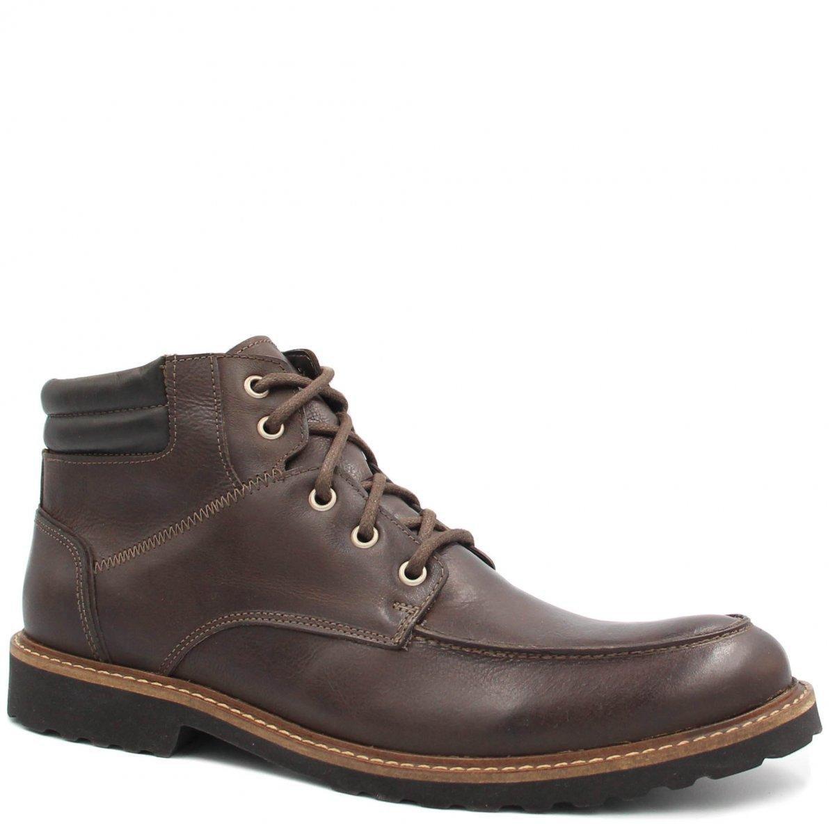 em Bota Zariff Zariff Bota Masculina Couro Shoes Escuro Coturno Marrom qwZgpnSUZ1