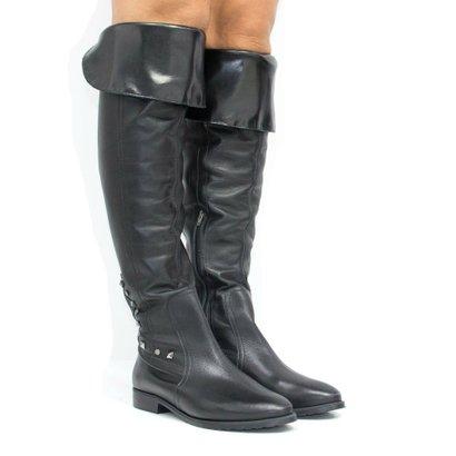 Bota Zariff Shoes Over The Knee Em Couro Feminina-Feminino