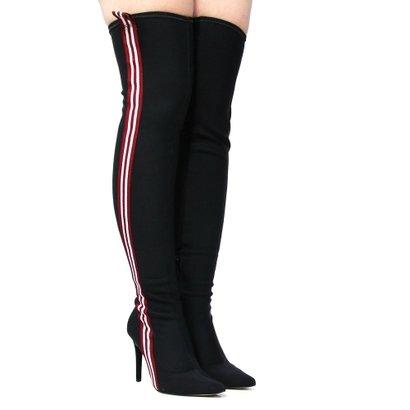 Bota Zariff Shoes Over The Knee Salto Fino  Feminina-Feminino