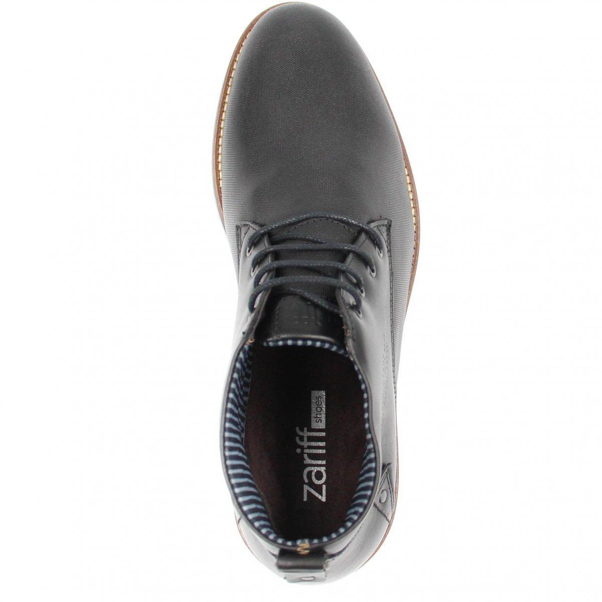 Cadarço em Shoes Masculina Zariff Preto Couro Bota Social Bota Zariff wUgqn0fgT