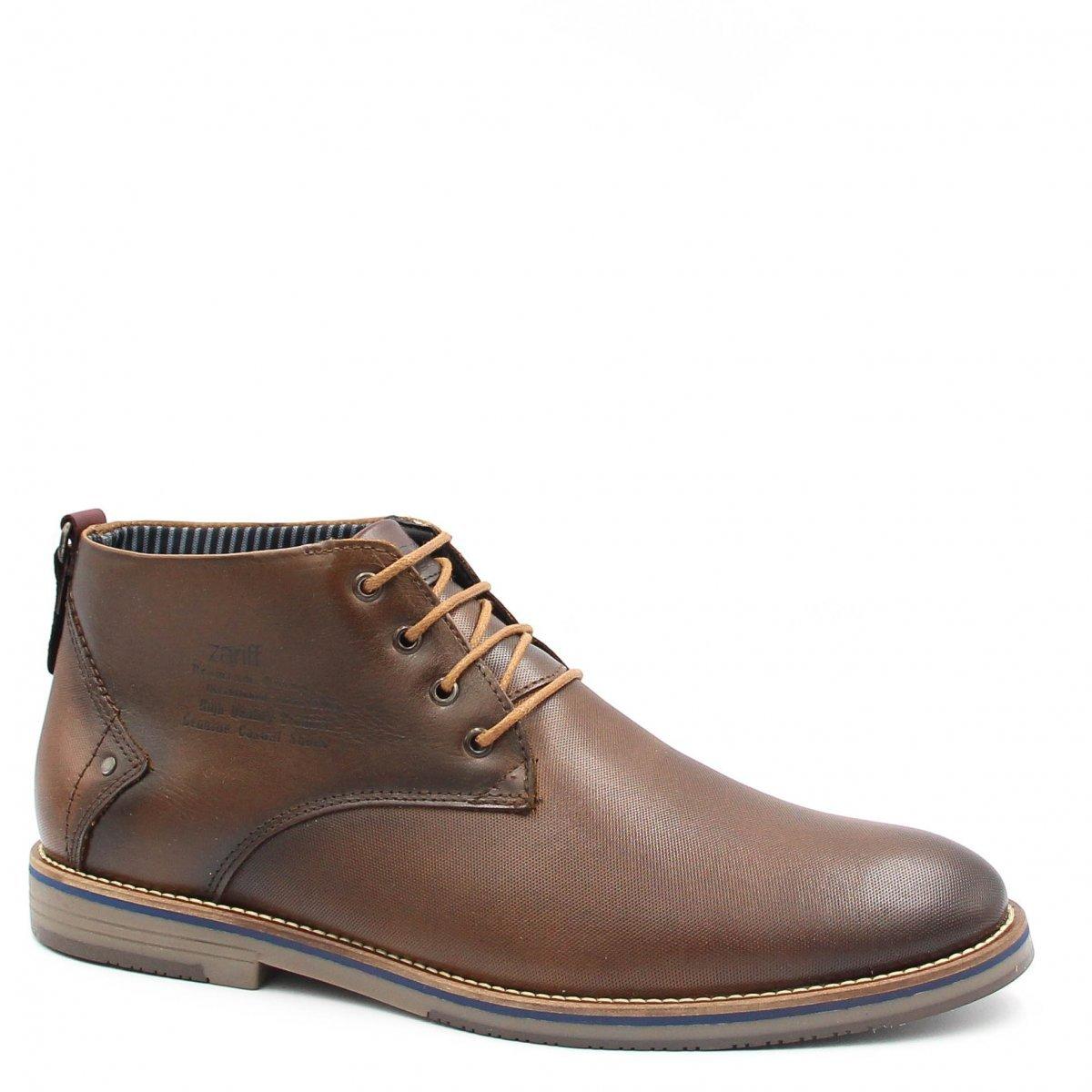 Social Zariff Marrom Shoes Bota Bota Zariff em Masculina Cadarço Couro wRFqIBxEF