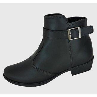 Botas Moda Pé Ankle Boots Cano Baixo Feminina