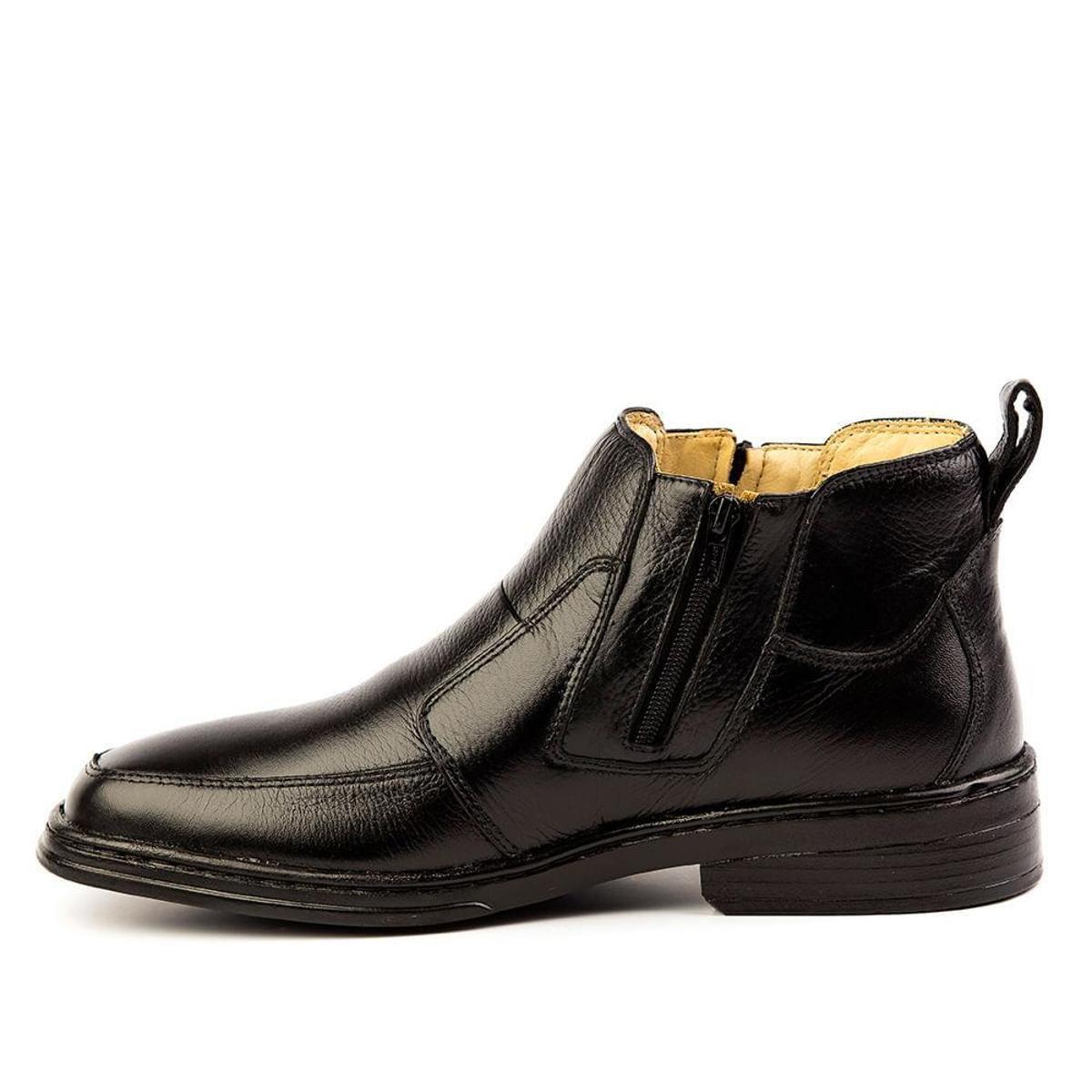 Botina Masculino 916 em Couro Floater Doctor Shoes - Preto
