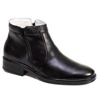 Botina Tchwm Shoes Couro Solado Costurado Design Classico