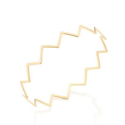 Bracelete Aro Fino Zig Zag Rommanel