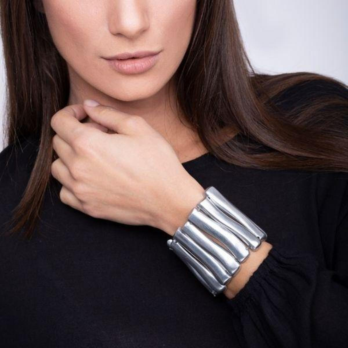 Bracelete Vestopazzo Largo Feminino - Prata