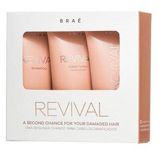 Braé Revival Travel Size Kit – Shampoo + Condicionador + Máscara Kit