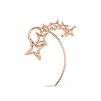 Brinco Life Ear Cuff Star Banho Ouro Rosé