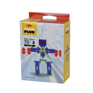 Brinquedo Infantil Jokenpô/Steam Toy Neon Robots 70 pcs