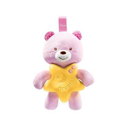 Brinquedo para Bebê Ursinho Bons Sonhos Rosa