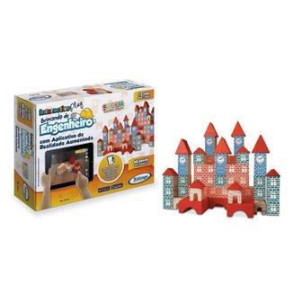 Brinquedo Pedagógico Xalingo Brincando Engenheiro 60 Peças
