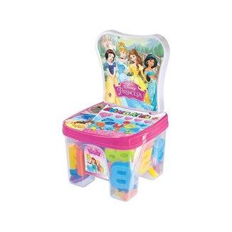 Cadeira Baú Educa Kids Princesas com Acessórios