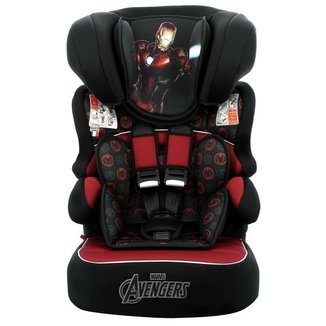 Cadeira Para Auto Marvel Homem De Ferro Beline Luxe 9 À 36Kg Preta e Vermelha