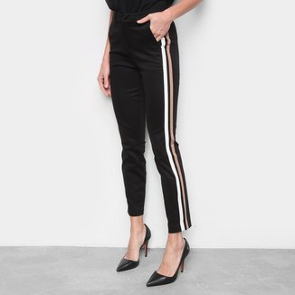 Calça Calvin Klein Slim Faixas Feminina