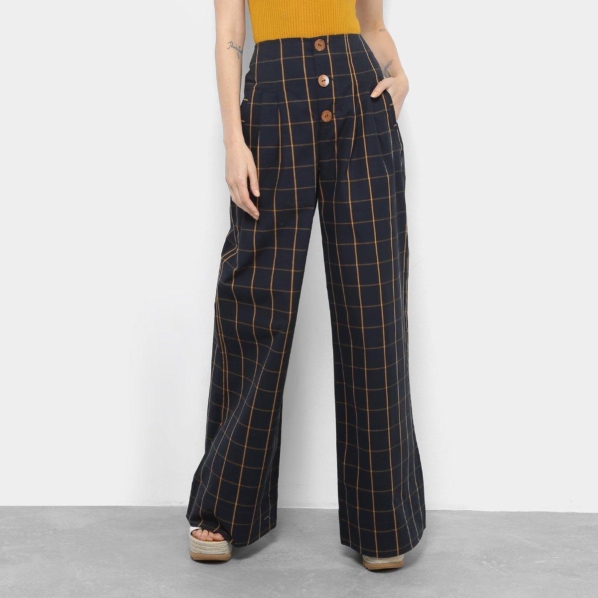 0c2735961 Calça Colcci Xadrez Pantalona Cintura Alta Feminina - Compre Agora | Zattini