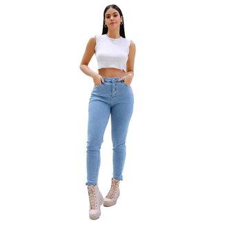 Calça Consciência Jeans Feminina Clara  Mom Com Elastano