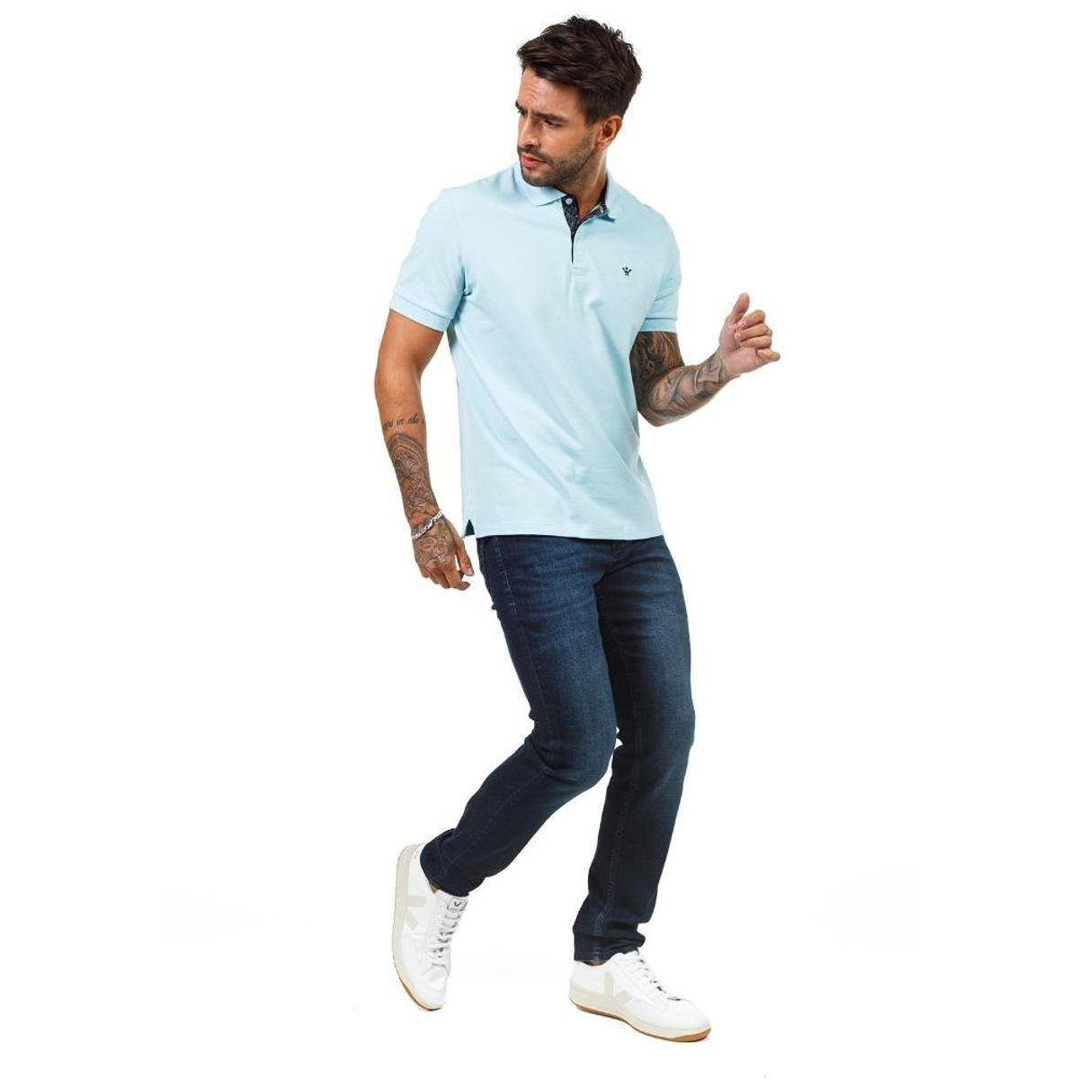 Calça Docthos Jeans Masculina - Azul e Preto