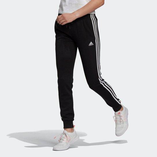 Calça Essentials French Terry 3-Stripes Adidas - Preto