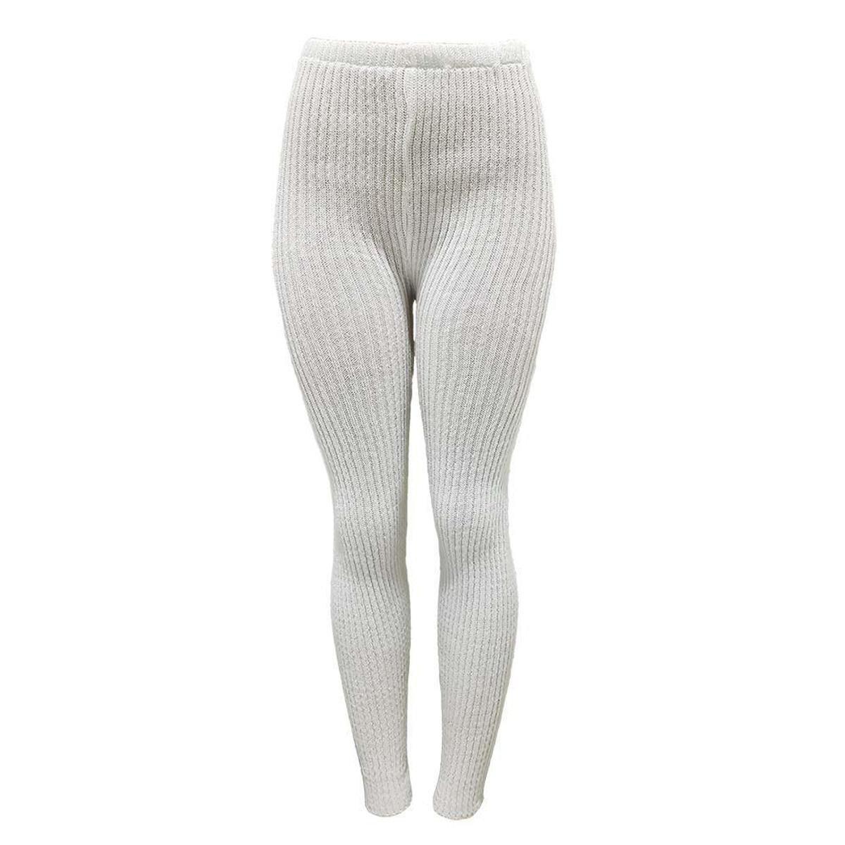 Calça Fuso Katlen Tricot Canelado Feminina - Branco