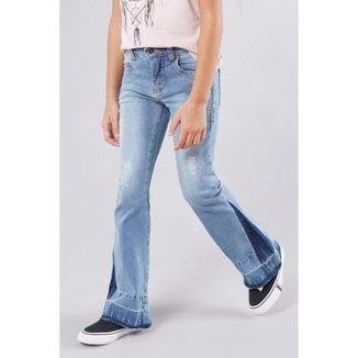 Calça Infantil Jeans Boca Sino Reserva Mini Feminina