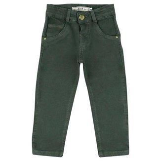 Calça Infantil Look Jeans Skinny Collor Masculina