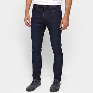 Calça Jeans Acostamento Básica Cintura Média Masculina
