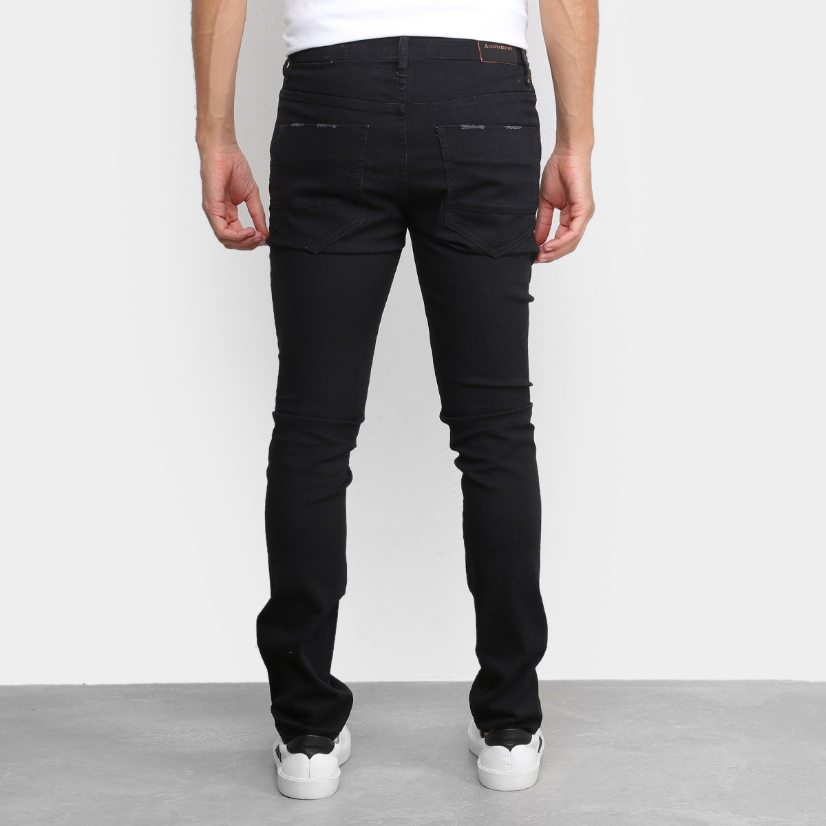 Calça Jeans Acostamento Skinny Masculina - Azul